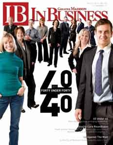2011 Issue with the 40 Under 40 in Madison.  (Why yes, as a matter of fact, the second girl on the left is me!) ;)
