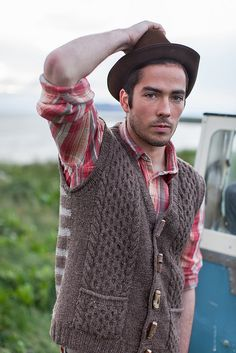 Ravelry: Caldwell pattern by Stephen West - Vest for Sam, love the stripes on the back!