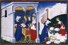 MINIATURIST, French Christine de Pisan: The Book of the City of Ladies c. 1405 Manuscript (Ms. français 606), 360 x 270 mm Bibliothèque Nationale, Paris