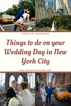 things to do on your wedding day in new york city