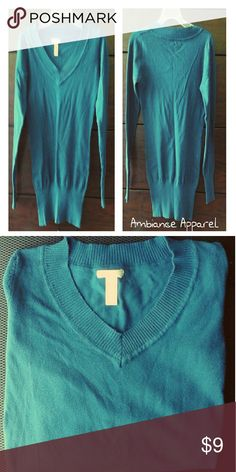 Juniors v-neck sweater 80% cotton / 20% nylon / ribbed detail on collar and sleeves Ambiance Apparel Sweaters V-Necks