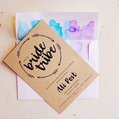 DIY Handpainted watercolor envelope liners for a boho bachelorette invite! Bachelorette Crafts, Bachelorette Party Supplies, Bachelorette Party Invitations, Bachelorette Party Decorations, Bachelorette Weekend, Wedding Invitations, Hens Night Invitations, Invites, Party Questions