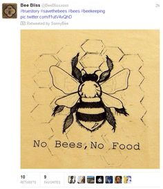 no bees no food
