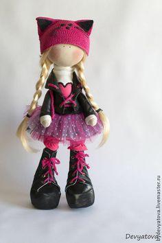 Куклы тыквоголовки ручной работы. Ярмарка Мастеров - ручная работа Кукла Kitty. Handmade.