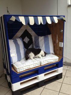 Strandkorb - die Katze ist kein Bestandteil des Projekts ;)