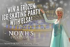 Enter to win an ice skating party with the character Elsa from Disney's movie FROZEN! You can enter to win the FREE ice skating party with Elsa at NOAH'S of South Jordan by clicking on the link below! Photo courtesy of Princess Parties by Natalie. See our event page for more details!  https://www.rafflecopter.com/rafl/display/a89688745/