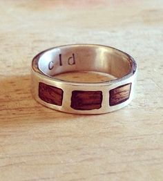 Reclaimed Wood Wedding Band | Made with the rugged and outdoorsy nature-loving folks in mind... | Rings