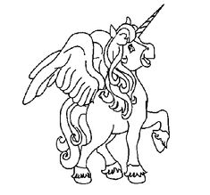 Coloring Page Unicorn With Wings To Color Online