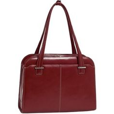 "15.4"" #Red Oak Grove Fly-Through Checkpoint-Friendly Ladies' #Laptop Case  McKlein 96636   PRICE DROP!"
