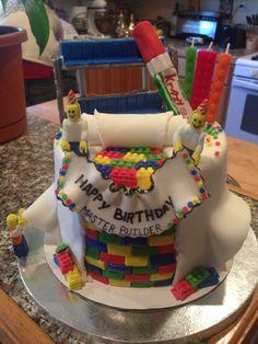 lego movie birthday cake!