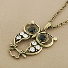 Not sure why I am drawn to these owl necklaces so much - this normally wouldn't be my style but I love them...