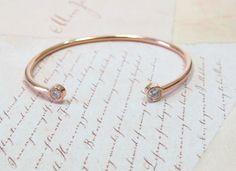 Bezel Set Diamond Bracelet in Rose Gold