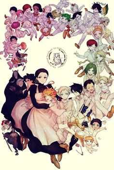 Manga The Promised Neverland 95 Online - InManga Fanarts Anime, Anime Characters, Otaku Anime, Anime Art, Arte Do Kawaii, Japon Illustration, Sr1, Dark And Twisted, Animation