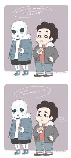 Sans and Steven - Steven Universe crossover
