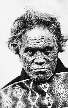 New Zealand   Tomika Te Mutu of Coromandel. 19th century Maori chief   ©John Hillelson