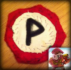 Authentic badge from the Inside Pete civil war. Dyed red with the blood of a thousand foes.