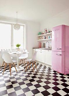 Blanco, negro y rosa ;)