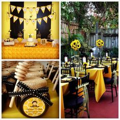 Bee Themed Baby Shower with So Many ADORABLE IDEAS via Kara's Party Ideas | KarasPartyIdeas.com #beeparty #beebabyshower #genderneutralbabyshower #bumblebee #partydecor #partyideas
