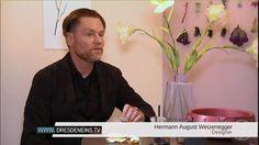 """Die Ausstellung """"Die Falsche Blume""""   Herrmann August Weizenegger berichtet üder das Designmärchen – Die falsche Blume (c) DRESDENEINS.TV"""