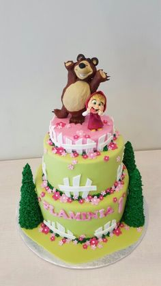 Masha and Bear cake