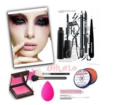 """""""beauty set"""" by art-gives-me-life ❤ liked on Polyvore featuring beauty, MAC Cosmetics, NARS Cosmetics, CARGO, Tweezerman, Jouer, Vapour Organic Beauty, ZOEVA and beautyblender"""