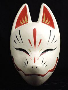 Komendo Fox Mask Suzune Kitsune Full Face Cosplay Cosplay dipinto a mano Giappone F / S # . - Komendo Fox Mask Suzune Kitsune Full Face Cosplay Cosplay dipinto a mano Giappone F / S Domin - Mascaras Anbu, Kitsune Maske, Anbu Mask, Japanese Fox Mask, Mascaras Halloween, Hotarubi No Mori, Mask Drawing, Cool Masks, Full Face Mask