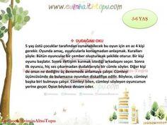 5-6 yaş oyun önerileri (2) Cakepops, Learn Turkish, Preschool Games, Ms Gs, Pre School, Kids And Parenting, To My Daughter, Gaming, Games