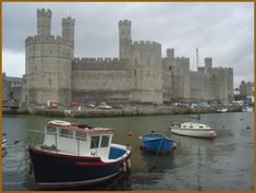 Caernarfon Castle: Edward I Plantagenet of England and his Castles.  Edward I,  built a formidable iron ring of castles, a days march from apart, to defend his aquisitions from Welsh rebellion. Subsequent to Edward's first Welserrected the castles of Flint, Rhuddlan, Builth Wells and Aberystwth. After the failure of Llywelyn's second uprising in 1282, the Iron Ring was extended to include castles at Conwy, Caernarfon and Beaumaris. Source: English Monarchs'