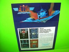 Taito ALCON 1986 Original Video Arcade Game Promo Sales Flyer b/w RENEGADE #TaitoAlcon