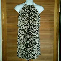 Dress by JBS Cute cheatah print dress with built in necklace. Size XL. Like new condition. JBS Dresses Mini