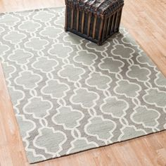 @Overstock - Hand Hooked Charlotte Grey Rug (5'0 x 7'6) - Spirited yet casual, the Charlotte rug will add a fresh vibrant look to your decor. Being hand-hooked in China of 100-percent polyester makes this rug durable and stain resistant.  http://www.overstock.com/Home-Garden/Hand-Hooked-Charlotte-Grey-Rug-50-x-76/8211313/product.html?CID=214117 $137.69