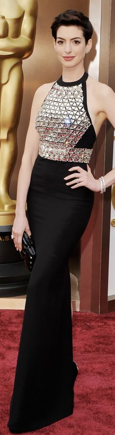 Anne Hathaway in Gucci | Oscars 2014 #Styleinspiration #Eveningdresses