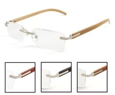 c3791bba5423 Choose from many stylish rimless women s and men s reading glasses  featuring an optical quality rectangle lens and choice of temple colors  only at Reading ...