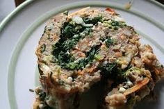 Italian meatloaf roll with spinach (add mushrooms for reduced calories) Healthy Meatloaf, Meatloaf Recipes, Beef Recipes, Cooking Recipes, Healthy Recipes, Turkey Recipes, Diabetic Recipes, Healthy Foods, Easy Recipes