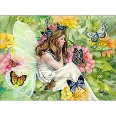 FAIRY PRINCESS Fantasy 15x11 Giclee Watercolor Art Print