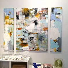 Kimono Triptych x main panel oil Triptych, Kimono, Symbols, Oil, Shapes, Black And White, Abstract, Painting, Color