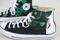 Wicked Converse - Hand Painted Black Canvas Chuck Taylors – B ...