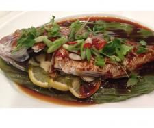 Recipe Varoma Snapper with Asian flavoured sauce by LindaTMX, learn to make this recipe easily in your kitchen machine and discover other Thermomix recipes in Main dishes - fish. Whole Food Recipes, Cooking Recipes, Healthy Recipes, Sauce Recipes, Seafood Recipes, Snapper Recipes, Asian Fish Recipes, Fish And Meat, Nutrient Rich Foods