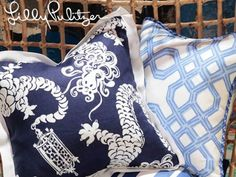 pillows:  Lilly Pulitzer for Lee Jofa