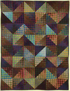 """Kent Williams, VW • 51"""" H x 39"""" W I'm thinking this would look great using my hand dyed fabric stash..."""