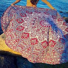 Useful Indian Mandala Round Tapestry Wall Hanging Beach Throw Towel Yoga Mat Boho Decor Delaying Senility Home & Garden