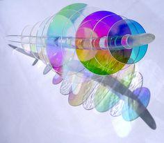 dichroic glass sculpture