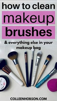 Learn how to properly clean and sanitize your makeup brushes and makeup products in this helpful tutorial. Best Beauty Tips, Diy Beauty, Beauty Makeup, Beauty Hacks, How To Clean Makeup Brushes, How To Apply Makeup, Makeup Tools, Makeup Products, Makeup Techniques