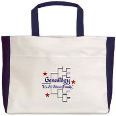 """Family Tree Chart Beach Tote > """"It's All About Family"""" > Genealogy Store USA"""