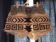 Shorts I just made!! All you need is bleach and a sharpie :) {{ooh wee. I just may make some, too!}