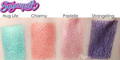 NEW! Phyrra's 10 Cruelty Free Eyeshadows for Spring!: Sugarpill Charmy, Hug Life, and Strangeling. These are also NEW releases for Spring 2015! My personal favorite is Strangeling, deep metallic violet with aqua reflects.