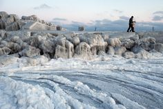 ice-covered dam next to frozen Black Sea waters near Bucharest Constanta Romania, Bucharest Romania, Croatian Islands, Black Sea, Eastern Europe, Historical Sites, Alps, Beautiful Places, Scenery