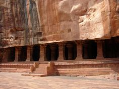 Badami Cave 3 in India, entrance portal. Wikimedia Commons, Dinesh Kannambadi,