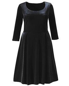 Black velvet-look skater dress: (had a blue one)