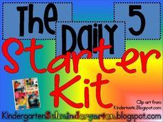 Daily 5....29 page teacher starter kit...TeacherPayTeacher...FREE